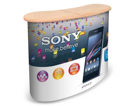 Portable Exhibition Counter : News pop up stands exhibition counters