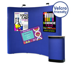 3 x 3 Curved Fabric Popup Stands