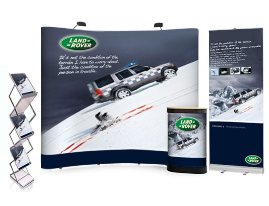 Exhibition Display Stands : Cheap bundle exhibition display stand & 1 pull up banner