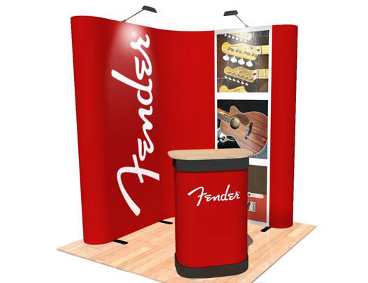 Corner Exhibition Stands Kit : L shape popup corner exhibition display stand