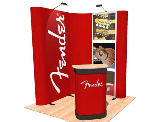 Kit A - L-Shaped Corner Popup Stand - 2 x 2m Area