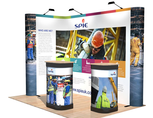 Corner Exhibition Stands Wa : L shape popup corner exhibition display stand