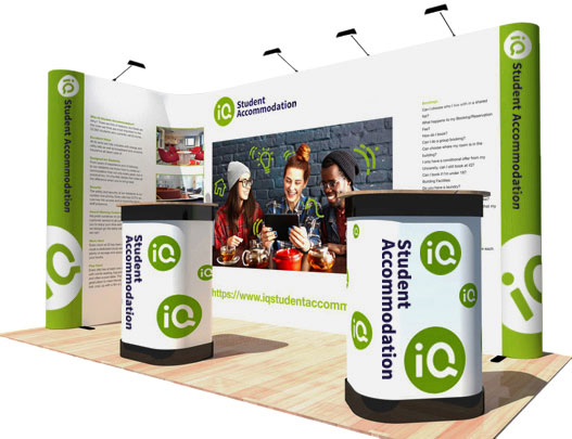 Exhibition Stand Builders Leicester : L shape popup corner exhibition display stand 3 x 2 & 3 x 4