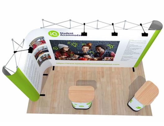 Corner Exhibition Stands Up : L shape popup corner exhibition display stand