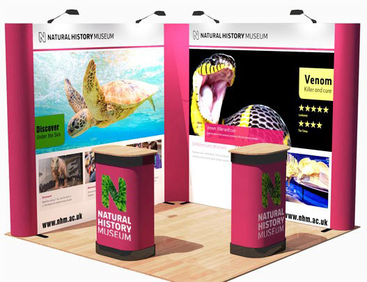 Kit E - L-Shaped Corner Popup Stand - 3 x 3m Area