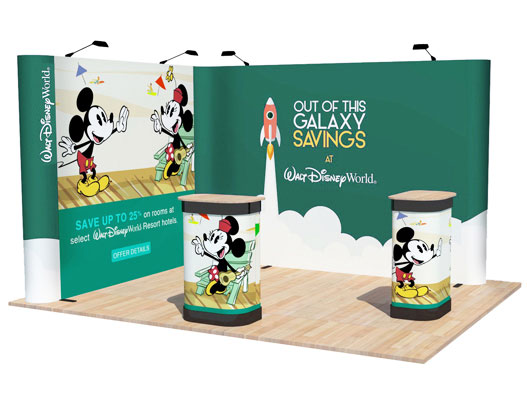 Exhibition Stand Kits : L shape popup corner exhibition display stand for m space
