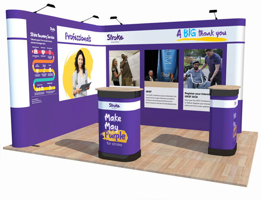 Kit F - L-Shaped Corner Popup Stand - 3 x 4m Area