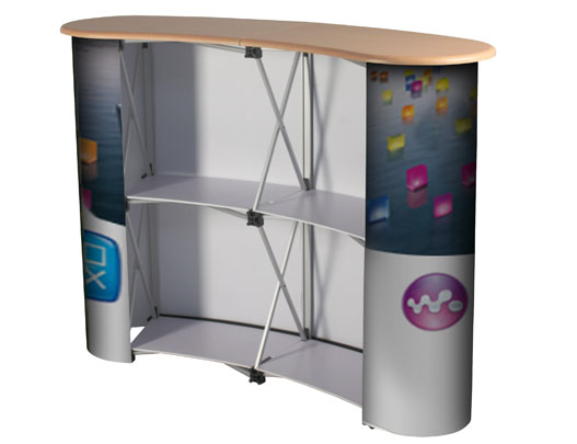 Portable Exhibition Counter : Pop up exhibition workstation exhibition counter