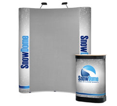 3 x 2 Curved Fabric & Graphic Popup Stand