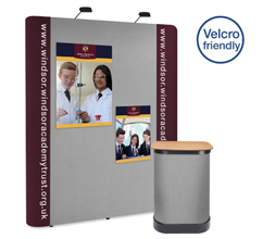 3 x 2 Straight Graphic & Fabric Popup Stand