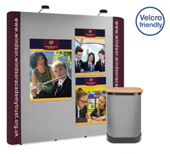 3 x 3 Straight Graphic & Fabric Popup Stand