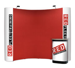 3 x 4 Curved Fabric & Graphic Popup Stand