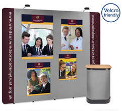 3 x 4 Straight Graphic & Fabric Popup Stand