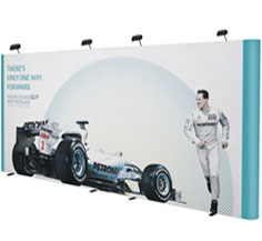 6m Wide Backwall - Straight Popup Stand