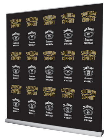2m wide step and repeat banner
